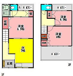 京阪本線 守口市駅 徒歩4分の賃貸テラスハウス 1階3DKの間取り