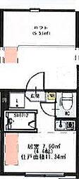 (仮称)千住東1丁目B Neo AVAND 2階ワンルームの間取り