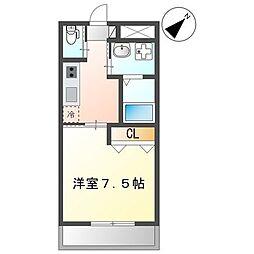 (仮)那覇市三原1K新築マンション 4階1Kの間取り