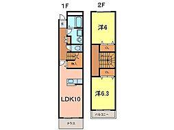 メゾントーマ安城[106号室]の間取り
