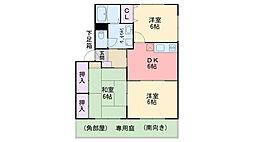 福岡県糸島市篠原東1丁目の賃貸アパートの間取り