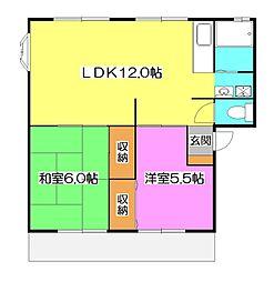 シャトレ所沢II[1階]の間取り