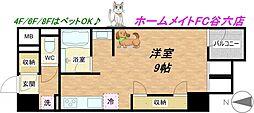 KDX堺筋本町レジデンス[2階]の間取り
