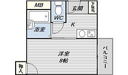 第二メゾンいずみ[2階]の間取り