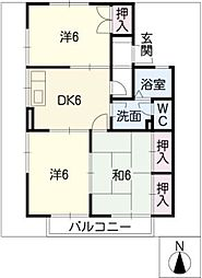 コートビレッジ B棟[1階]の間取り