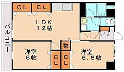 松岡コーポ[3階]の間取り
