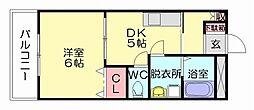 Ksエクシード[1階]の間取り