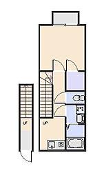 アムール美園[2階]の間取り