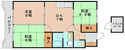 第1元木ビル[3階]の間取り