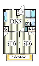 ニューシティ西平井[1階]の間取り