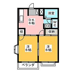 グリーンハイツD[2階]の間取り