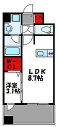 JR鹿児島本線 千早駅 徒歩4分の賃貸マンション 5階1LDKの間取り