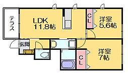 SEKI'08[105号室]の間取り