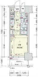 プレサンス大阪ドームシティワンダー[7階]の間取り