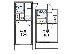 兵庫県姫路市同心町の賃貸アパートの間取り