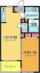 サザンクレスト綾瀬[5階]の間取り