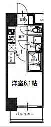 S-RESIDENCE南堀江 11階1Kの間取り