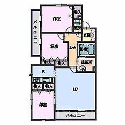 シャーメゾン城ノ坂[2階]の間取り