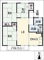 セジュール青雲B棟[2階]の間取り