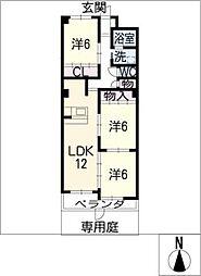 第3レオン光園[1階]の間取り