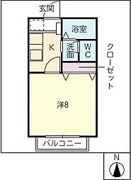 サン・friendsYoGo[1階]の間取り