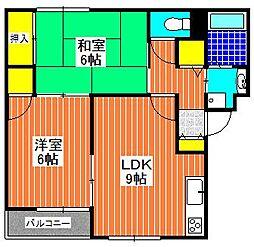 サンライズ加茂壱番館[2階]の間取り