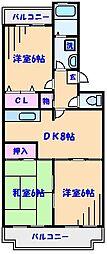 ボナールシャトレー原木[4階]の間取り