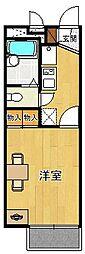 レオパレスKAMISHO[2階]の間取り