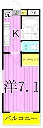 K-1マンション[403号室]の間取り
