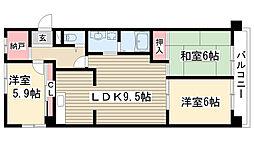 ベルコート松井[105号室]の間取り