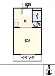 コーポラス山田[2階]の間取り