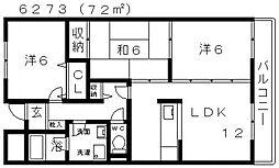 リバーサイド藤井寺[208号室号室]の間取り