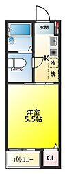 フォセット松戸・上本郷[3階]の間取り