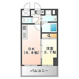 ラ・コルテ大濠[2階]の間取り