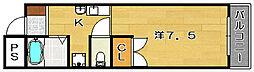 ウエストコーポ[3階]の間取り