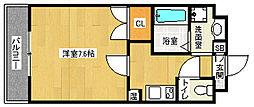 京都府京都市南区東九条河西町の賃貸マンションの間取り
