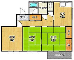 甲陽山荘[3階]の間取り
