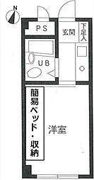ソシエート丸杉[3階]の間取り
