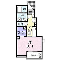 JR豊肥本線 武蔵塚駅 3.4kmの賃貸アパート 1階1Kの間取り
