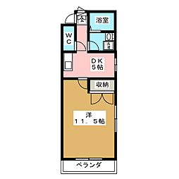 愛知県日進市折戸町枯木の賃貸マンションの間取り