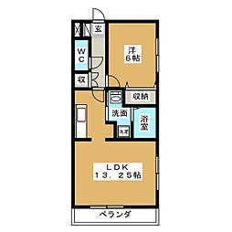ソレーユ[2階]の間取り