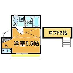 シャンテお花茶屋[3階]の間取り