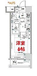 SQUARE CITY横浜吉野町 3階1Kの間取り