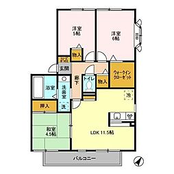 アンクレージュ 壱〜六番館[2201号室]の間取り