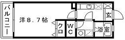 リブレアリバーサイド姪浜B[2階]の間取り