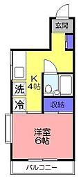 オリエンテ大和田[401号室]の間取り