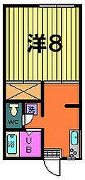 第二稲荷山ハイツAB[B-2-A号室]の間取り