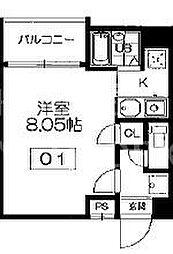 メディナ西大路II[703号室号室]の間取り