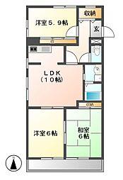 ベルコート松井[1階]の間取り