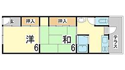 兵庫県神戸市長田区西山町4丁目の賃貸マンションの間取り